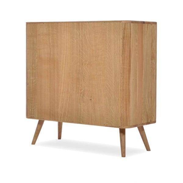 Komoda so zásuvkami z dubového dreva Gazzda Ena One, 90 x 42 x 90 cm