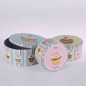 Sada 3 plechových dóz Fresh Cupcake