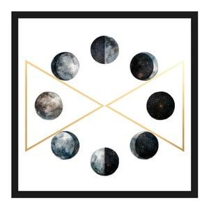 Obraz na plátne Marmont Hill Moon Phases, 41×41 cm
