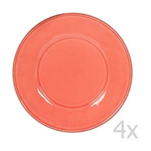 Sada 4 tanierov Constance Coral, 28.5 cm