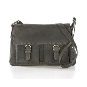 Sivá kožená kabelka Gianni Conti Hilaria