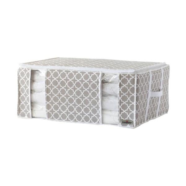 Béžový úložný box s vákuovým obalom Compactor, šírka 65 cm