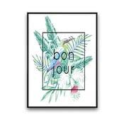 Plagát Bonjour, 30 x 40 cm