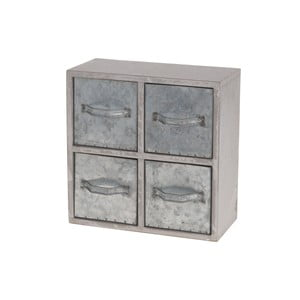 Drevená skrinka s kovovými zásuvkami  Dijk Natural Collections Oscar