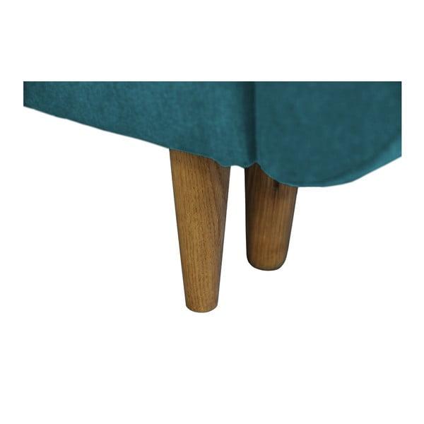 Tyrkysová rozkladacia pohovka so svetlými nohami Mazzini Sofas Roso