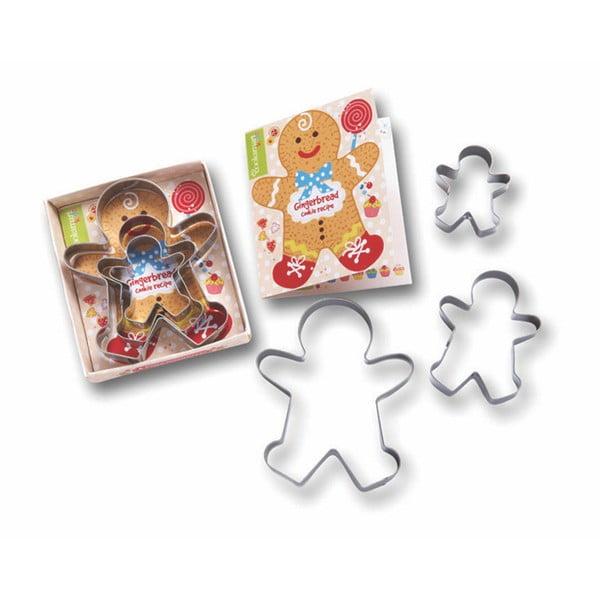 Sada 3 vykrajovadiel Cooksmart England Gingerbread