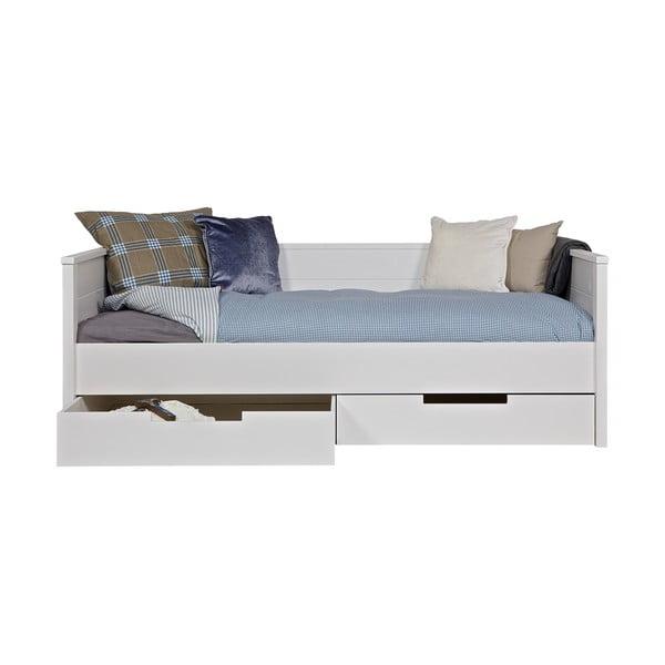 Biela posteľ/sofa Jade DeEekhoorn 90x200cm