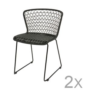 Sada 2 čiernych stoličiek DeEekhoorn Quadro