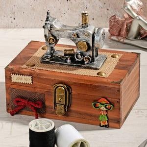 Drevený box na šitie Woodie