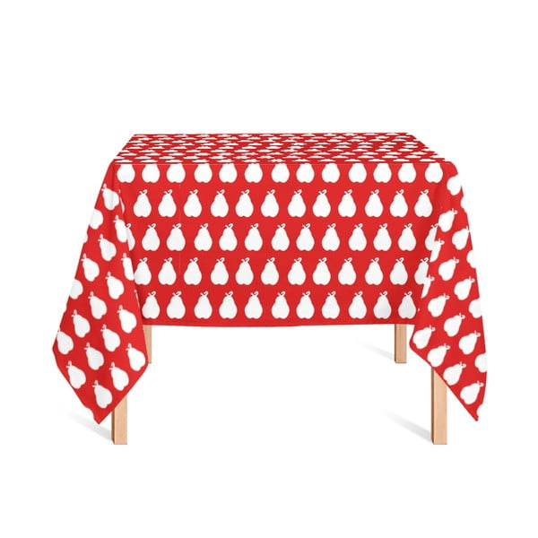 Obrus Poire Fond Rojo, 135x180 cm