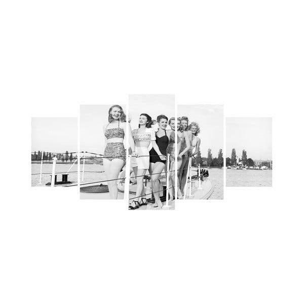 Viacdielny obraz Black&White no. 11, 100x50 cm