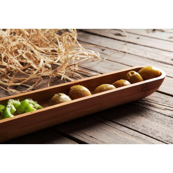 Bambusová miska na olivy Luiz, 40 cm