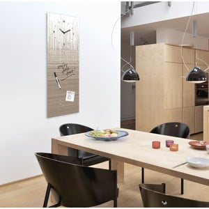 Magnetická tabuľa s hodinami Eurographics Structure Board, 30 x 80 cm