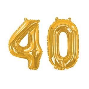 Balónik s číslom 40 Neviti Gold