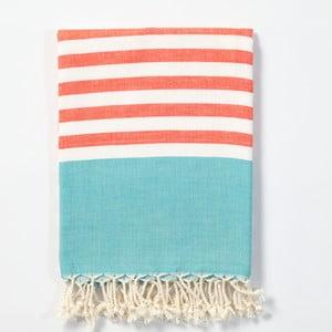 Hammam osuška z ručne tkanej bavlny ZFK Gisle, 170 x 100 cm