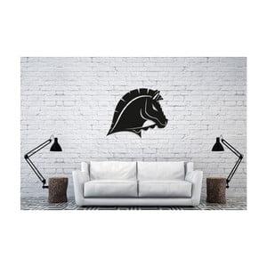 Čierna nástenná dekorácia Oyo Concept Horse, 50×40 cm