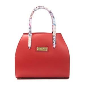 Červená kožená kabelka Alviero Martini Sagunto