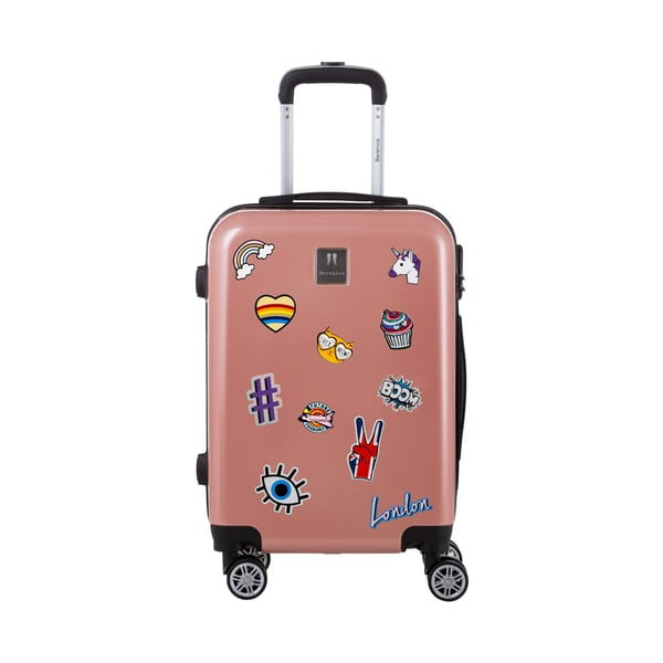 Staroružový cestovný kufor so sadou nálepiek Berenice Stickers, 71 l