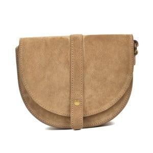 Béžová kožená kabelka Anna Luchini Purrio