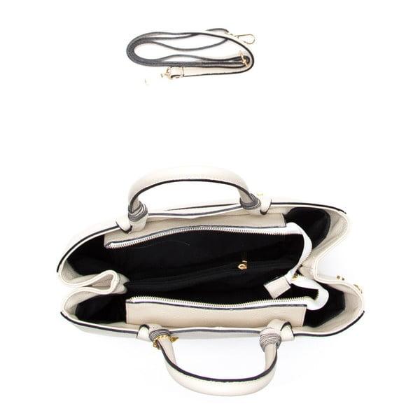 Kožená kabelka Carla Ferreri 1156 Beige