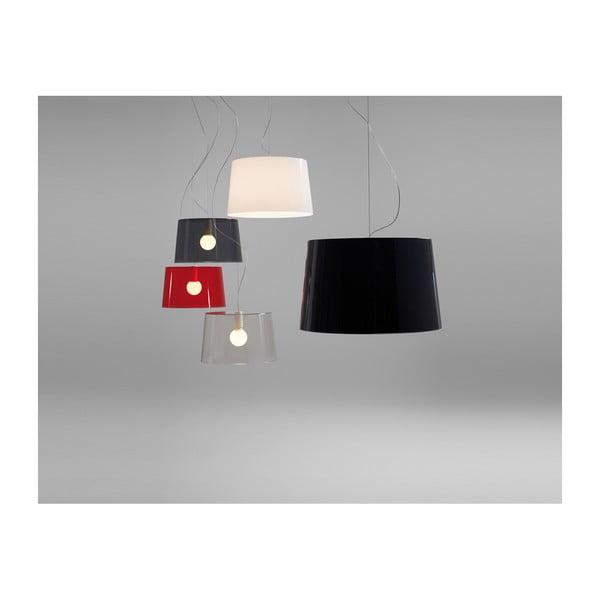 Závesné svietidlo Pedrali L001S/B, biele transparentné