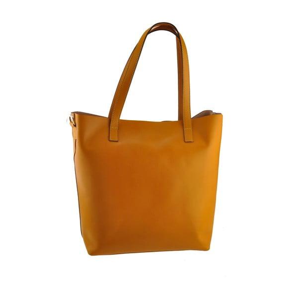 Žltá kožená kabelka Florence Tangor