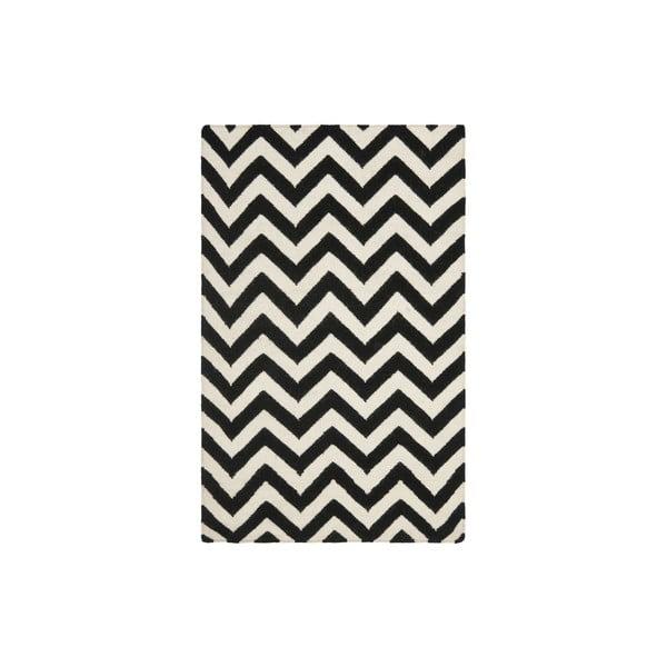 Vlnený koberec Nellaj 121x182 cm, čierny