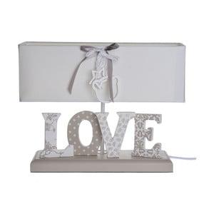 Stolová lampa s nápisom Love