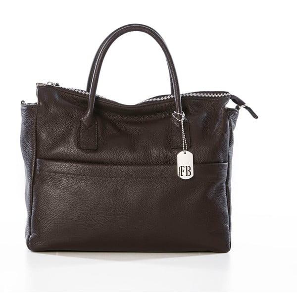 Kožená kabelka Grana Dark Brown