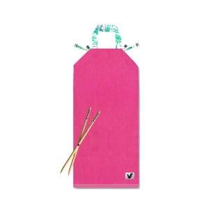 Ružové plážové ležadlo Origama Palms
