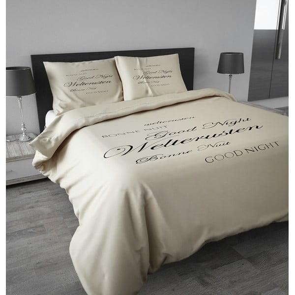 Flanelové obliečky Good Night 240x200 cm, krémové