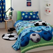 Detské modré obliečky Catherine Lansfield Football, 135×200cm