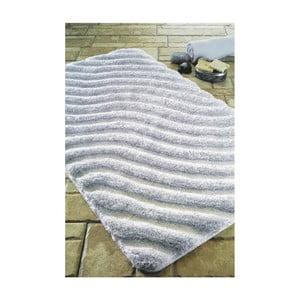 Biela predložka do kúpeľne Confetti Bathmats Halikarnas, 60x100cm