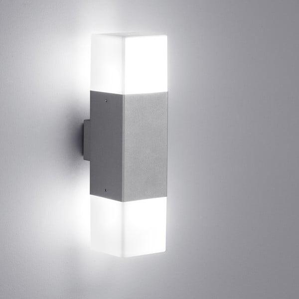 Záhradné nástenné svetlo Hudson Titanium, 33 cm