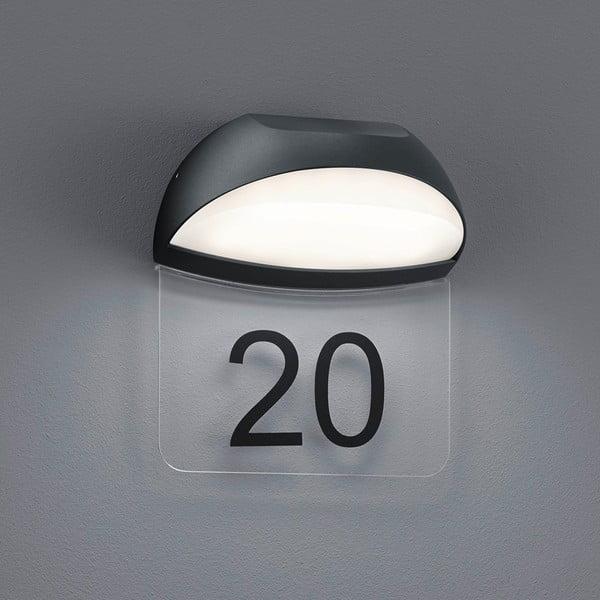 Záhradné nástenné svetlo Muga Antracit, 19 cm