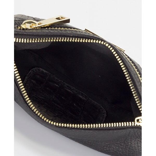 Čierna kožená kabelka Lisa Minardi Eleuterio