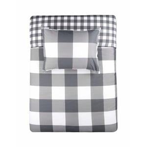 Sivé bavlnené obliečky na dvojlôžko Walra Portland, 240×220cm