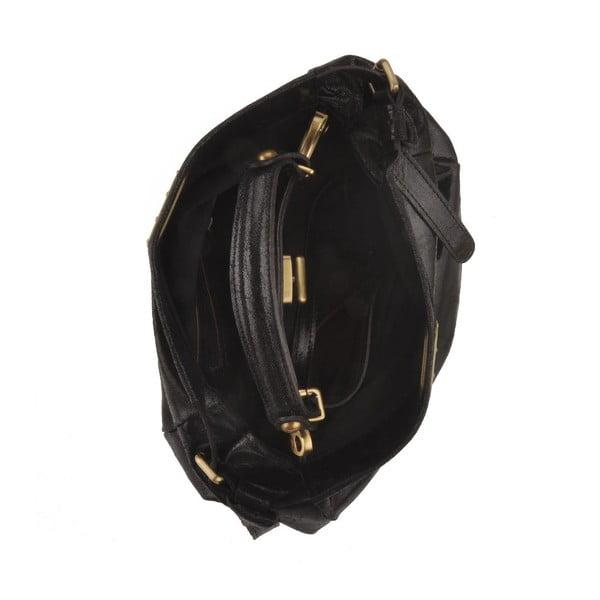 Čierna kožená kabelka Florence Electra