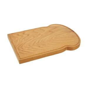 Prkénko z dubového dreva v tvare toastu Premier Housewares, 25×34 cm
