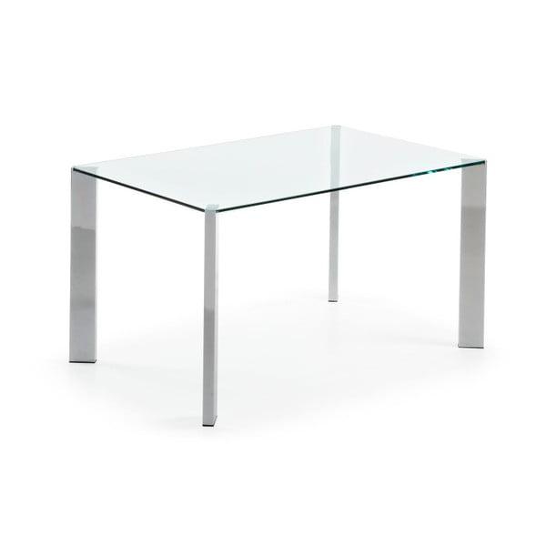 Jedálenský stôl Corner, 140x90cm, chrómované nohy