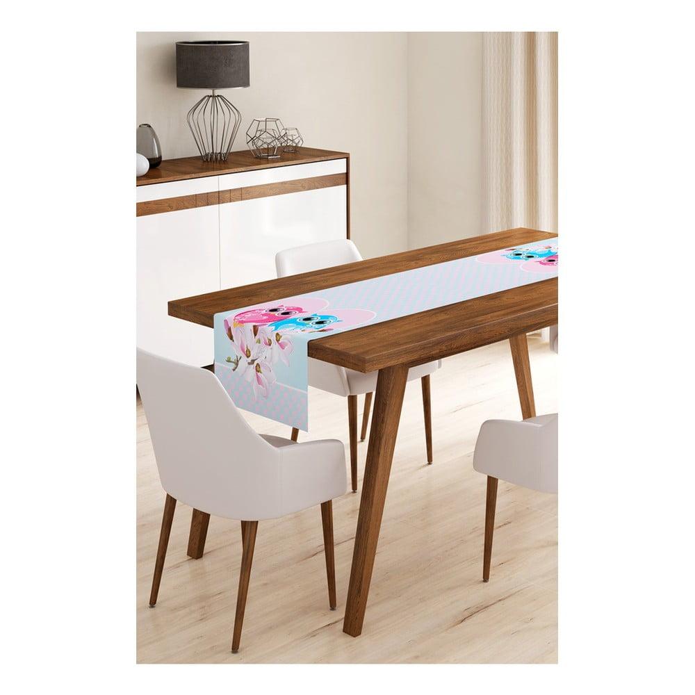 Behúň na stôl z mikrovlákna Minimalist Cushion Covers Inlove Owls, 45 × 145 cm