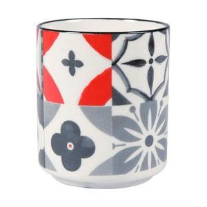 Porcelánový hrnček bez ucha Sema Carreau Rouge