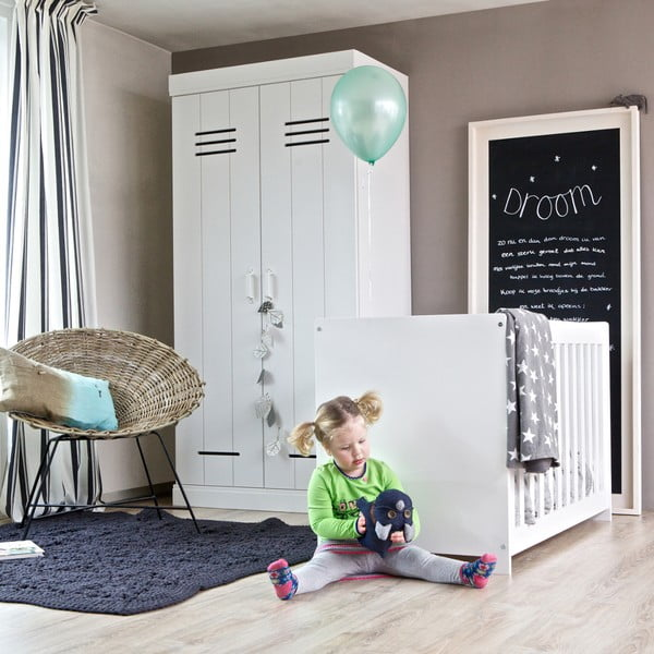 Biela detská postieľka De Eekhoorn New Life