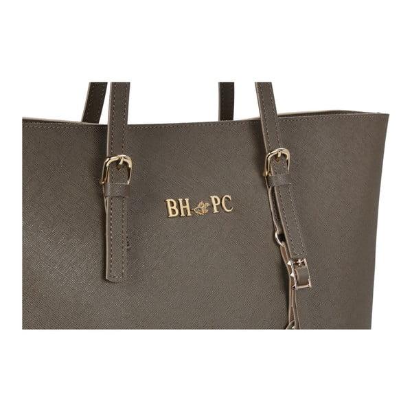 Sivohnedá kabelka z eko kože Beverly Hills Polo Club Anne