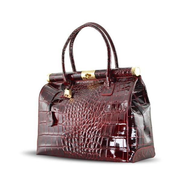 Kožená kabelka Justine, červená