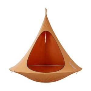 Oranžové závesné kreslo pre dvoch Cacoon Double