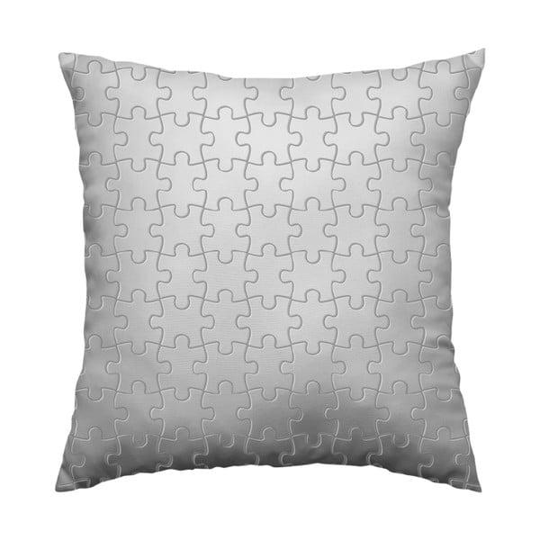 Vankúš Grey Puzzle, 40x40 cm
