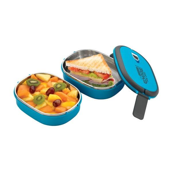 Modrá dvojitá miska na obed Pioneer Lunchbox