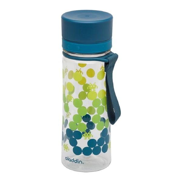 Fľaša na vodu s petrolejovozeleným viečkom a potlačou Aladdin Aveo, 350ml