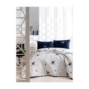 Set bavlnenej prikrývky cez posteľ a 2 obliečok na vankúše Masso Pura, 200×220 cm